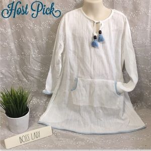 Heidi Klein Long Sleeve Pom Pom Dress